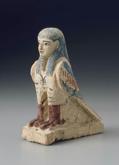 Polychrome wooden statuette of a Ba bird. Hellenistic Period (Ptolemaic Dynasty). 305–30 B.C. | Museum of Fine Arts, Boston