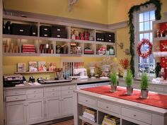 Martha's Craft Space...in her TV Studio...I like it!
