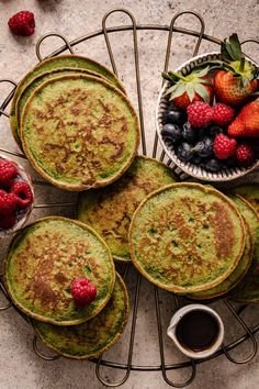 If you are looking for a new breakfast recipe, these Gluten free Spinach Banana Blender Pancakes are going to blow your mind - you can't taste the spinach, but you get allll the spinach benefits. They are lightly sweetened with banana and a touch of maple syrup. They are super kid friendly, too - what kid wouldn't get excited about getting green pancakes? I love topping mine with fresh berries and almond butter or vanilla yogurt. but the world is your oyster. Enjoy any way that you like! Sugar Free Diet, Dairy Free Diet, Gluten Free, Nutritious Breakfast, Breakfast Recipes, Brownies, Healthy Sweet Treats, Healthy Eats, Spinach Benefits
