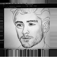 Zayn malik by coconutwishes Dark Art Drawings, Pencil Art Drawings, Art Drawings Sketches, Easy Drawings, Horse Drawings, Drawing Art, One Direction Fan Art, One Direction Drawings, One Direction Pictures