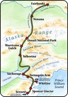 alaska railroad map