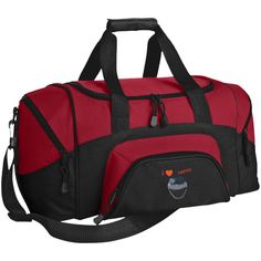 Port Authority - Small Colorblock Sport Duffel in Black/ Grey, add a custom logo Luggage Store, Travel Luggage, Travel Bag, Horse Gear, Monogram Design, True Red, New York Travel, Online Bags, Bag Sale