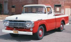 """My dad gave me his 1958 Ford F-100 pickup truck like this one, but it was blue and white. My Uncle """"Shorty"""" needed a truck to deliver his strawberries to market one spring, and I left the truck and the pink slip at his house."""