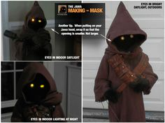 Jawa costume with sewing pattern and LED lights - I'm being contracted out for the nephew's Halloween costume.