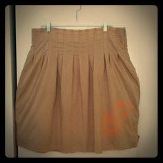 Full skirt with flower detail Flirty full skirt in khaki color with flower detail. Cotton polyester blend. Old Navy Skirts A-Line or Full
