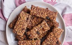 For a healthier flapjack, try this fruit traybake, made without refined sugar   and combining dates with oats, seeds and a touch of cinnamon