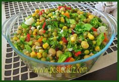 Nohut salatası tarifi Turkish Salad, Salads, Vegetables, Food, Rezepte, Veggies, Essen, Salad, Vegetable Recipes