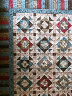 Good quilt pattern for all those scraps!