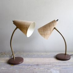 Really cool old school desk lamps that I should probably have.