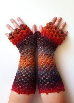 OOAK Dragon gloves Fingerless gloves Womens gloves Winter gloves Handmade wrist warmers arm warmers texting driving gloves long gloves