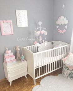 If you want to conceive a boy, you should know the precise day. A tiny boy is born, rather large and definitely lazy. Folks start to speculate if you . Baby Girl Nursery Decor, Baby Bedroom, Baby Room Decor, Nursery Room, Girls Bedroom, Baby Girl Nursery Pink And Grey, Room Baby, Baby Furniture, Baby Cribs