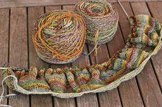 hand spun, hand knit