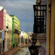 Fachadas Coloniales de la Ciudad de Campeche.