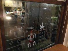 Krijtstift raamdecoratie Sinterklaas