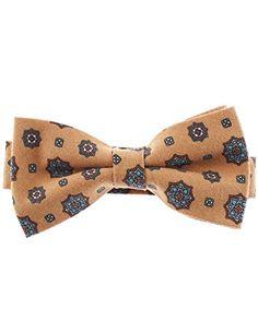 FLATSEVEN Mens Pre-Tied Casual Flower Pattern Bow Tie (YB013) Beige FLATSEVEN http://www.amazon.com/dp/B00LAZF13U/ref=cm_sw_r_pi_dp_--mlub1XFJ33S