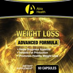 Abia Weight Loss  If you are in search of a product to help shed those unwanted pounds, we have what you are looking for! This product was developed with some of the most effective weight loss ingredients currently available. Abia Weight Loss suppresses appetite, inhibits fat production, promotes healthy weight loss, helps obtain healthy blood sugar levels, and supports cholesterol health. This product like all of our products is manufactured in an FDA registered and GMP approved facility…