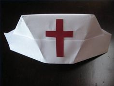 How to Fold a Nurse's Hat. Being able to fold a nurse's hat is a quick way to create a Halloween or work party costume.  All it takes is some paper and a few basic steps.