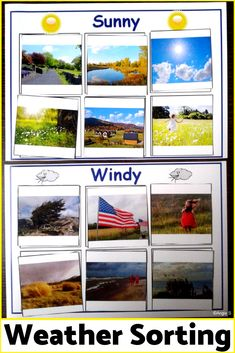 What a great activity to teach students about weather. It works great for students with autism, for speech therapy, OT, ABA! Weather Activities, Autism Activities, Autism Resources, Sorting Activities, Kindergarten Activities, Teacher Resources, Primary Resources, Language Activities, Paulo Freire
