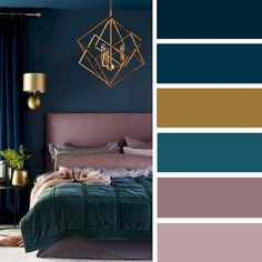 The Low Down on Bedroom Color Schemes Master Colour Palettes Revealed - zaradesignhomedec. Bedroom Ideas: 46 The Low Down on Bedroom Color Schemes Master C.Bedroom Ideas: 46 The Low Down on Bedroom Color Schemes Master C. Trendy Bedroom, Bedroom Romantic, My New Room, Home Decor Bedroom, Diy Bedroom, Dream Bedroom, Bedroom Decorating Ideas, Dark Teal Bedroom, Jewel Tone Bedroom