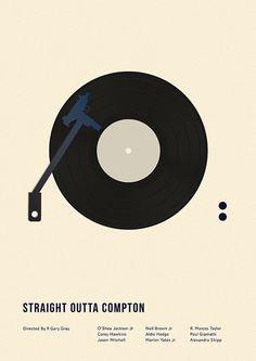 Straight Outta Compton - minimal movie poster - Matt Needle