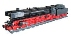 BR 01 - 1075 in 1:45 scale by Johannes van den Heuvel using Big Ben Bricks train wheels