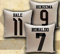 Real Madrid 3 pillows set soccer football three by Solretroshirts