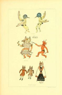 dessins de Katchina fait par un Hopi à la fin du XIXe siècle