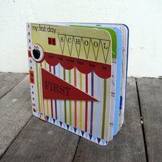 folded paper mini albums