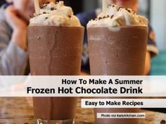 Recipe for frozen hot chocolate from NYC's Serendipity. This is the BEST frozen hot chocolate I've ever had! Had one each visit to NYC! Think Food, I Love Food, Good Food, Yummy Food, Köstliche Desserts, Dessert Recipes, Frosting Recipes, Yummy Recipes, Cake Recipes