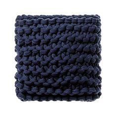 Chunky Knit Indigo Cushion
