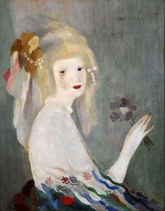 Мари Лорансен «Голова женщины» Холст, масло. Художественный музей Индианаполиса, США