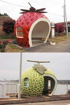 Fruits Bus Stop in Nagasaki, Japan