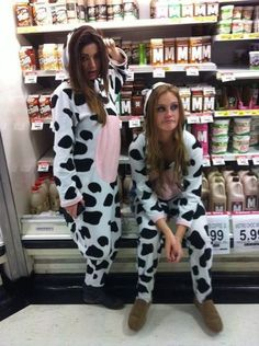 @Shelley Parker Herke ...mooo .. Our next halloween costume? Or thinking I might as well wear it every day !