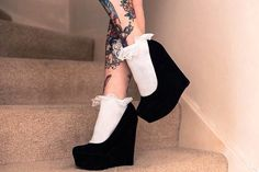Hey, I found this really awesome Etsy listing at https://www.etsy.com/listing/151590559/frilly-socks