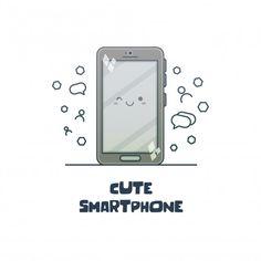 Vector Design, Cartoon Characters, Smartphone, Iphone, Cute, Kawaii