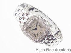 Genuine Cartier Diamond Panthere Ss Ladies Quartz Wrist Watch