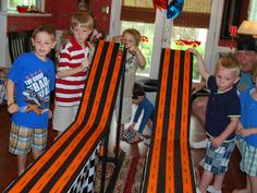 race track for cars/hot wheels party