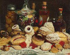 Luigi Monteverde Still Life with Sweets 1884