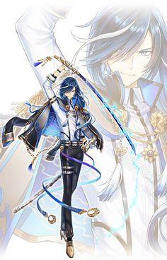 パイレーツシンフォニア|白猫プロジェクト Cool Anime Guys, Handsome Anime Guys, Anime Angel, Anime Demon, Anime Art Girl, Anime Boy Hair, Fantasy Character Design, Character Art, Anime Art Fantasy
