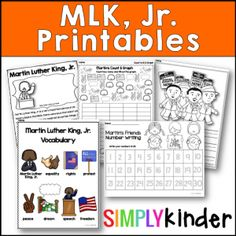 Martin Luther King Day Activities - Free Reader - Simply Kinder