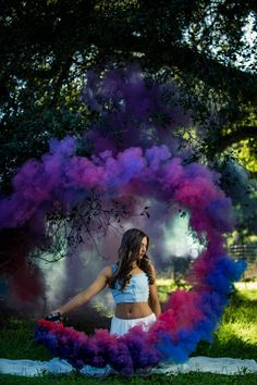 Smoke grenade circle | Smoke bomb | purple Smoke | Smoke Portrait