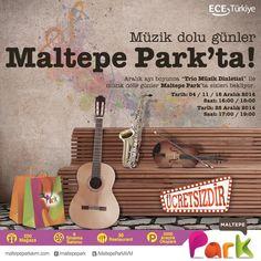 Bugün 16:00-18:00 saatleri arasında ''Trio Müzik Dinletisi'' ile müzik dolu bir gün Maltepe Park'ta! #HayatMaltepeParkta