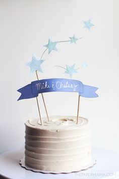 how to create a star and banner cake topper!