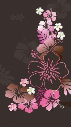 Wall paper with browns, pinks
