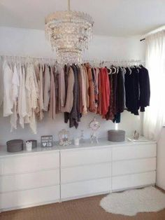 Spare bed space share it with IKEA 20 slot shelf and make a closet - Claire C. Spare bed space share it with IKEA 20 slot shelf and make a closet - The decoration of . Closet Bedroom, Dream Bedroom, Diy Bedroom, Bedroom Storage, Closet Space, Closet Dresser, Trendy Bedroom, Ikea Malm Dresser, Ikea Drawers