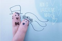 Forever together wedding fingerfaces  #wedding #finger #face www.partecipazioninkarta.com
