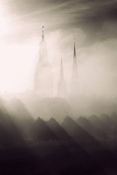 Latvia. Towers of old Riga, by Mariss Balodis My mom and grandma's hometown. Would love to go back