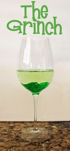 """The Grinch Holiday Cocktail: Find the spirit of the season with this yummy libation... instructions for a non-alcoholic """"mock""""tail as well!"""