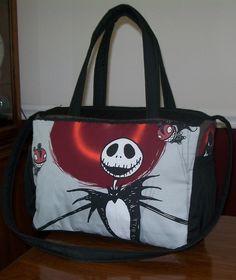 Brand New Diaper Bag custom made to order in Nightmare Before Christmas JACK fabric. $75.00, via Etsy.