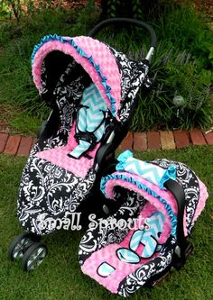 Infant Car Seat Cover in Baby Polka Dots | kids .. one day ...